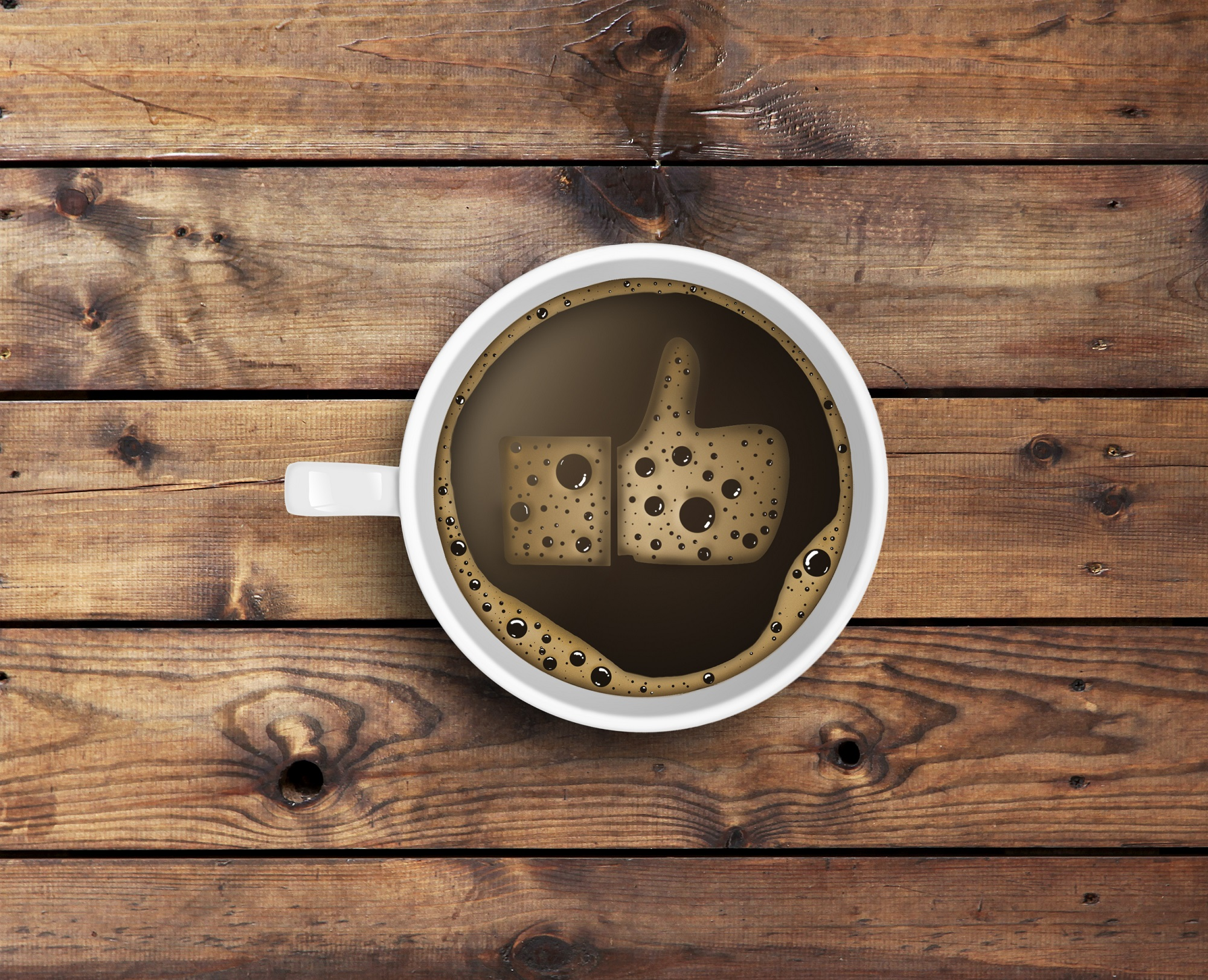 Coffee With Foam In Like Form